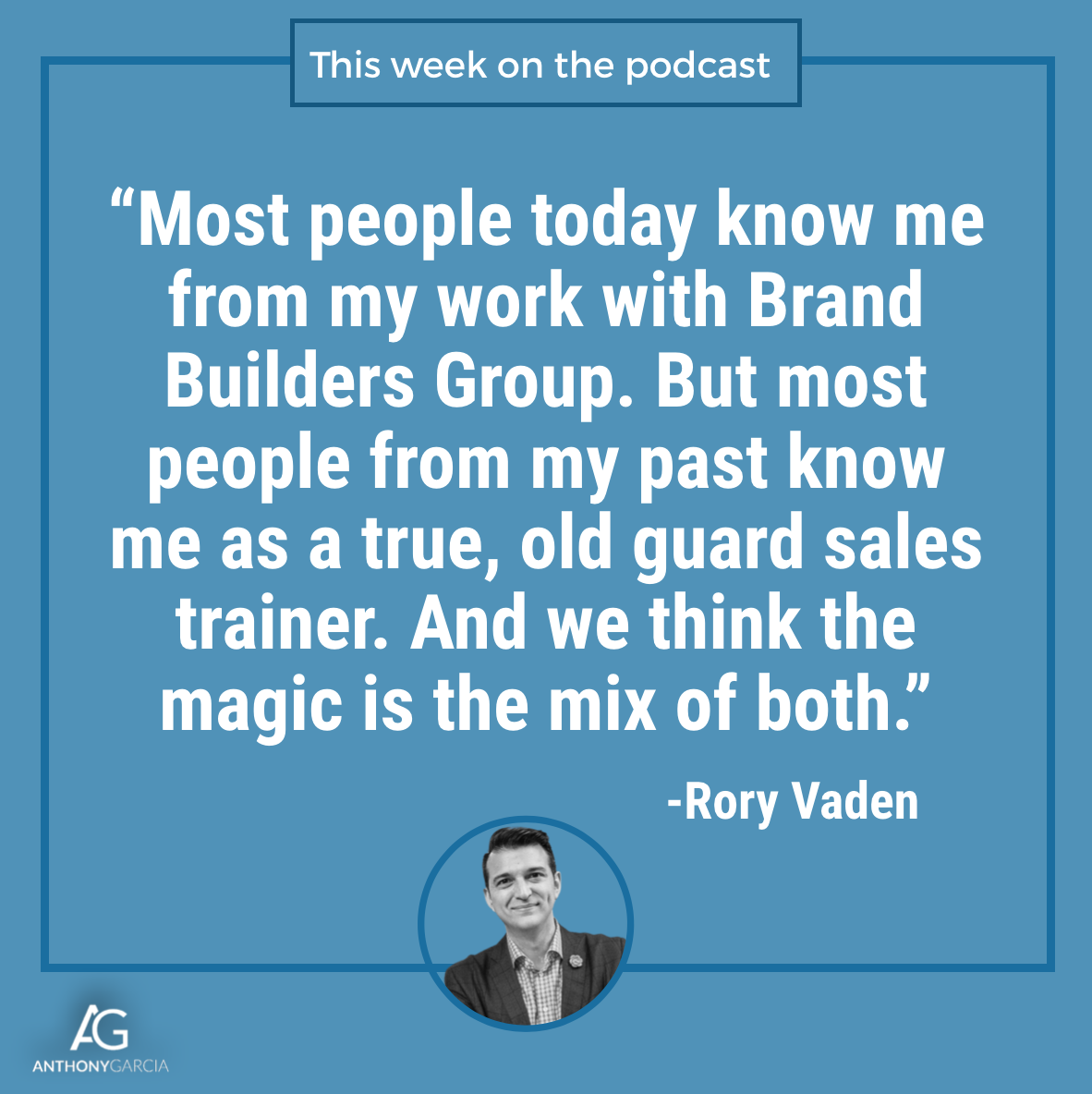 Rory Vaden on the Catapulting Commissions Podcast