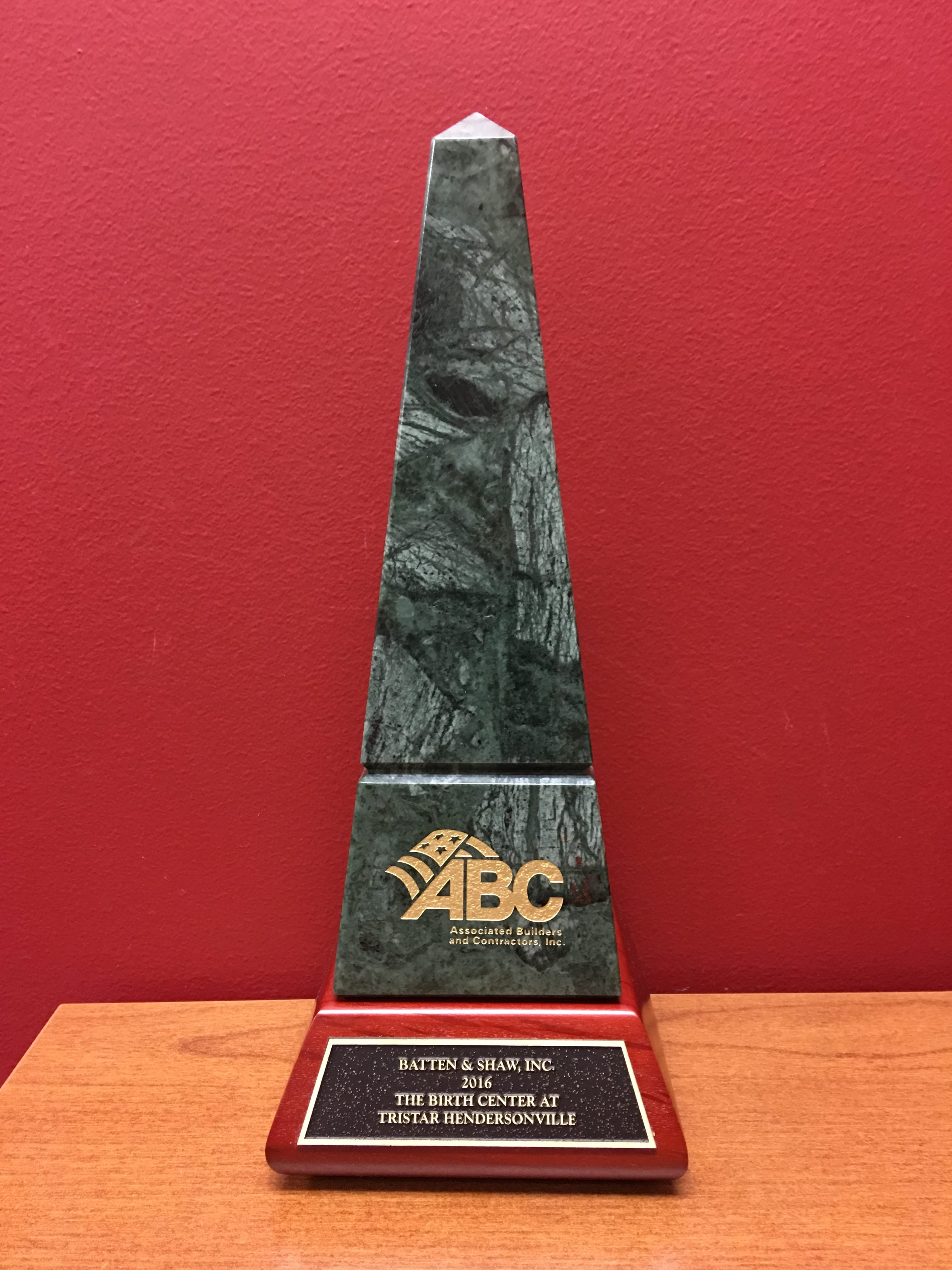 2016 ABC Award of Excellence The Birth Center