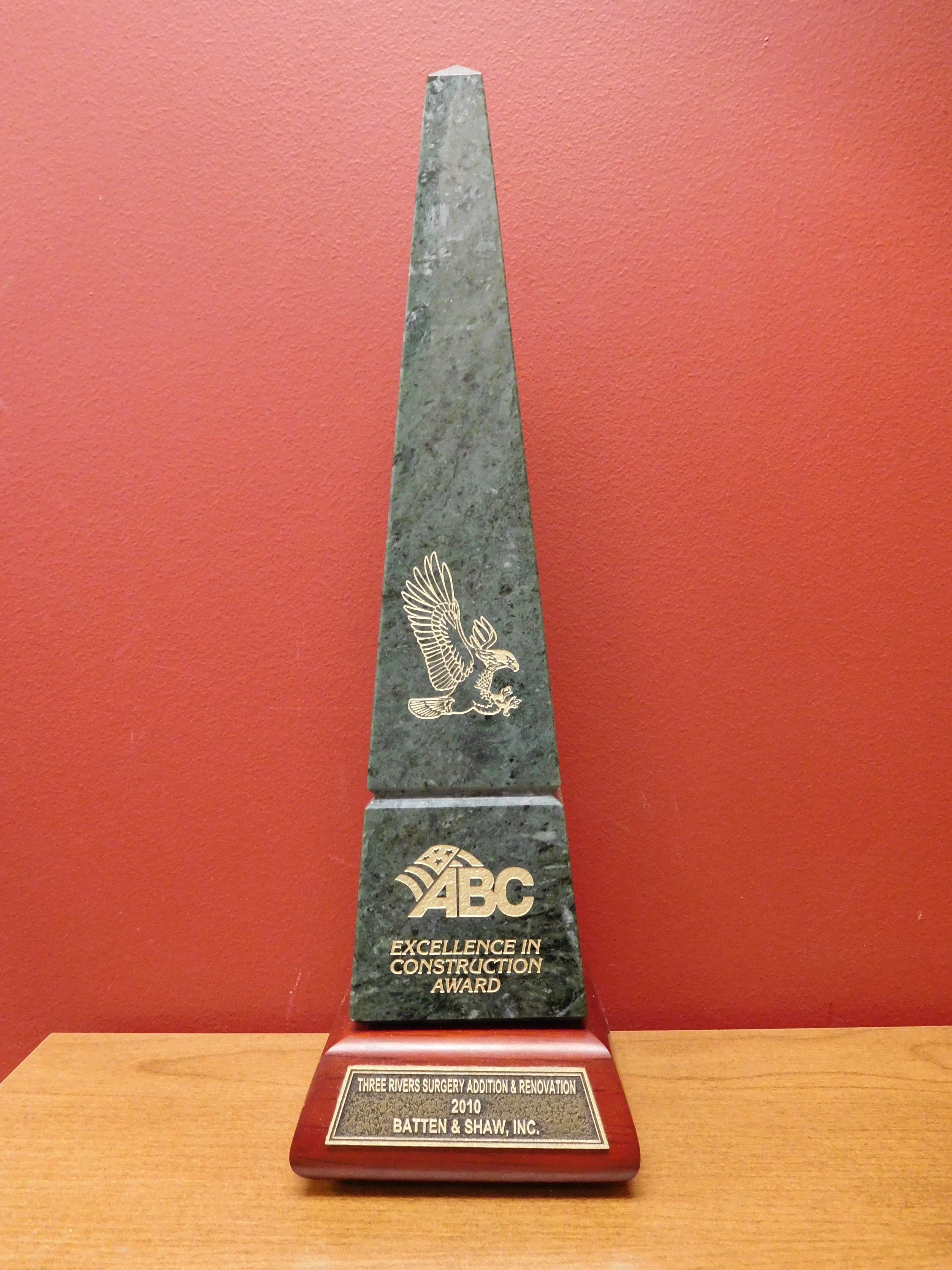 2010 ABC Award Three Rivers Surgery