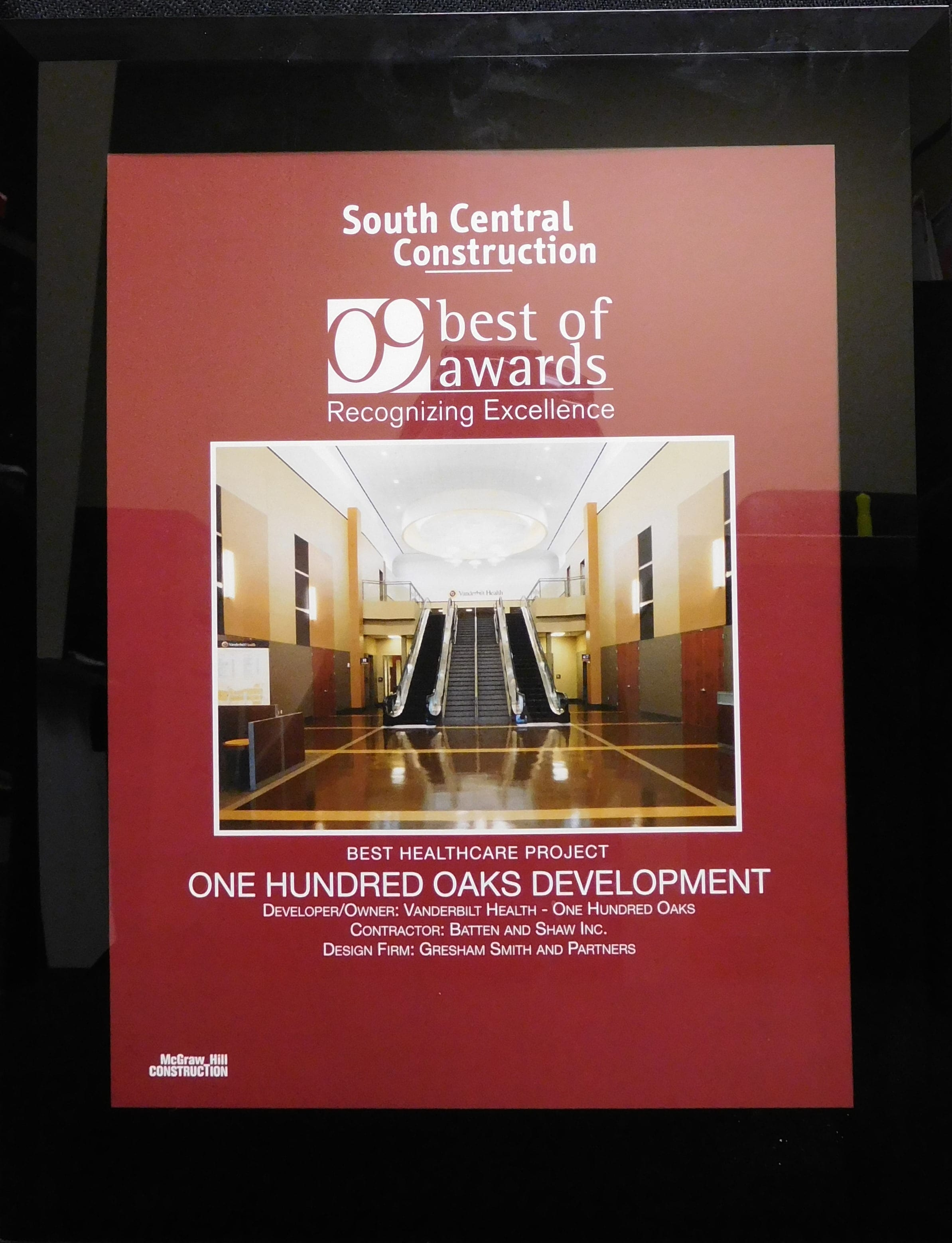 2009 South Central Construction Best Healthcare Project One Hundred Oaks Development