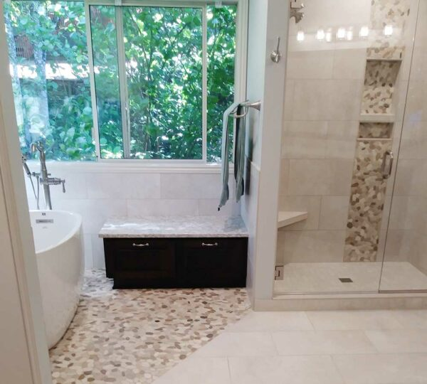 West Linn Contemporary Master Bathroom Remodel