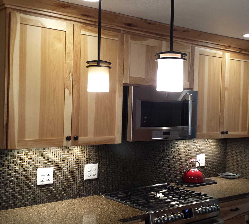 Kitchen Remodel Finished with Hickory Cabinets