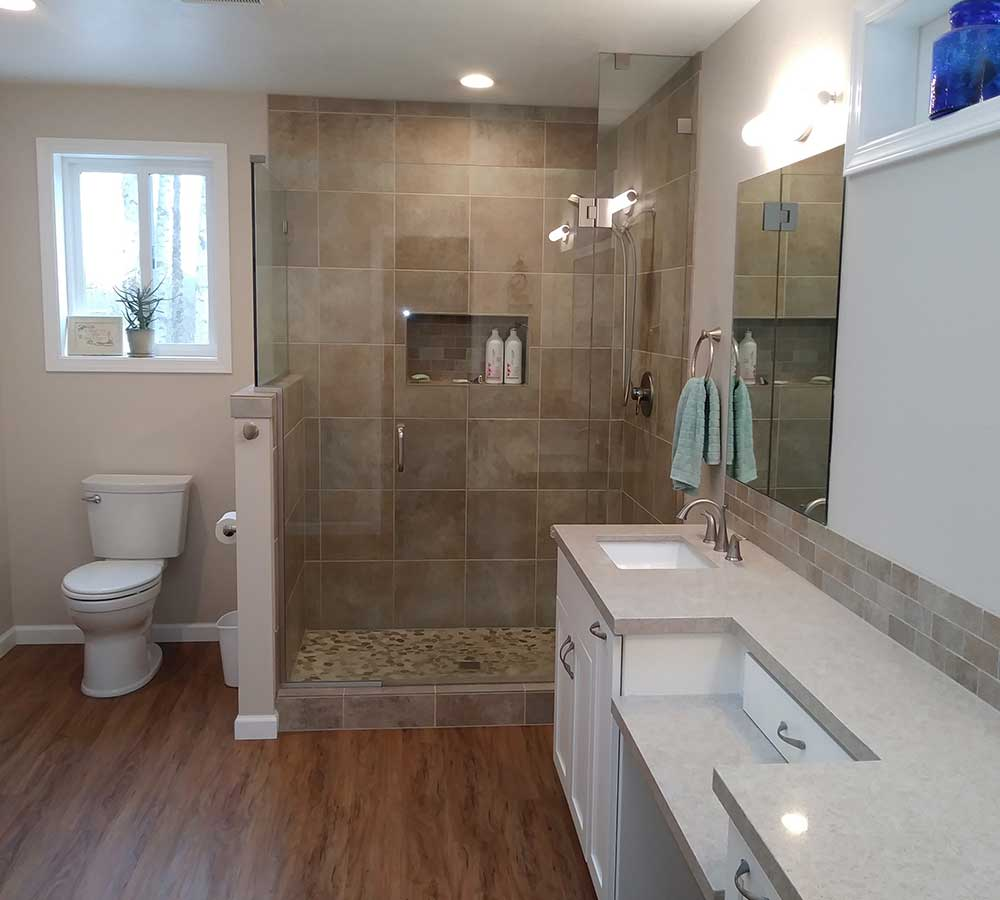 Bathroom Remodel Completed in Addition