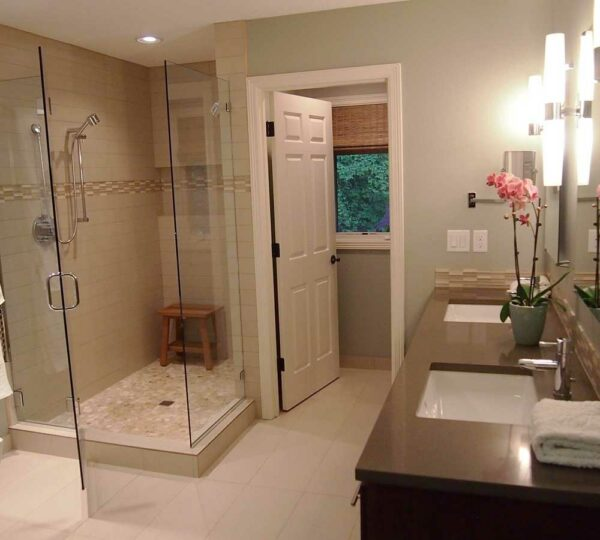 Bathroom Remodel with High End Finishes