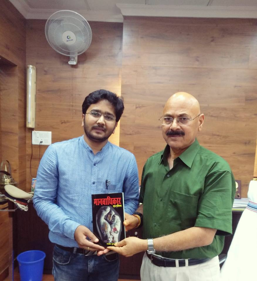 Our National President of NHRCCB Dr. Randhir Kumar with Honourable Director General of Police Jharkhand D.K Pandey Sir.