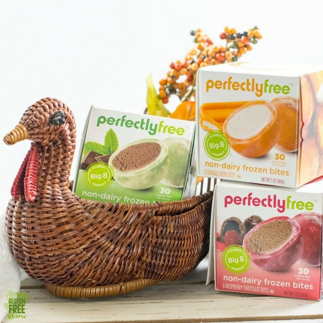 myglutenfreemiami perfectlyfree bites in Thanksgiving basket