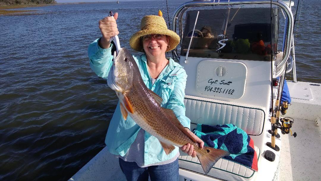 Redfish on Amelia Island Charters