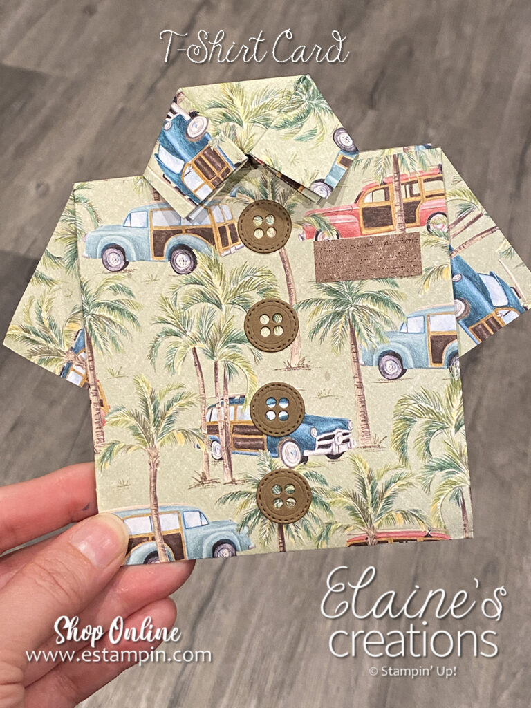 hawaiian t-shirt card