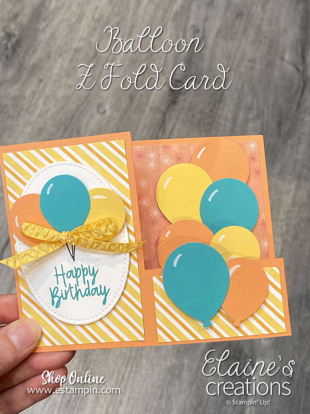 balloon z fold card