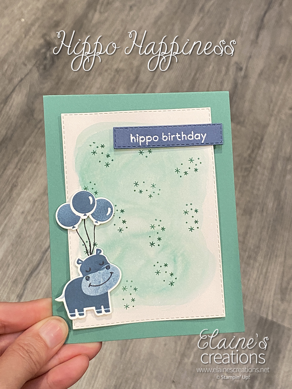 hippo happiness card
