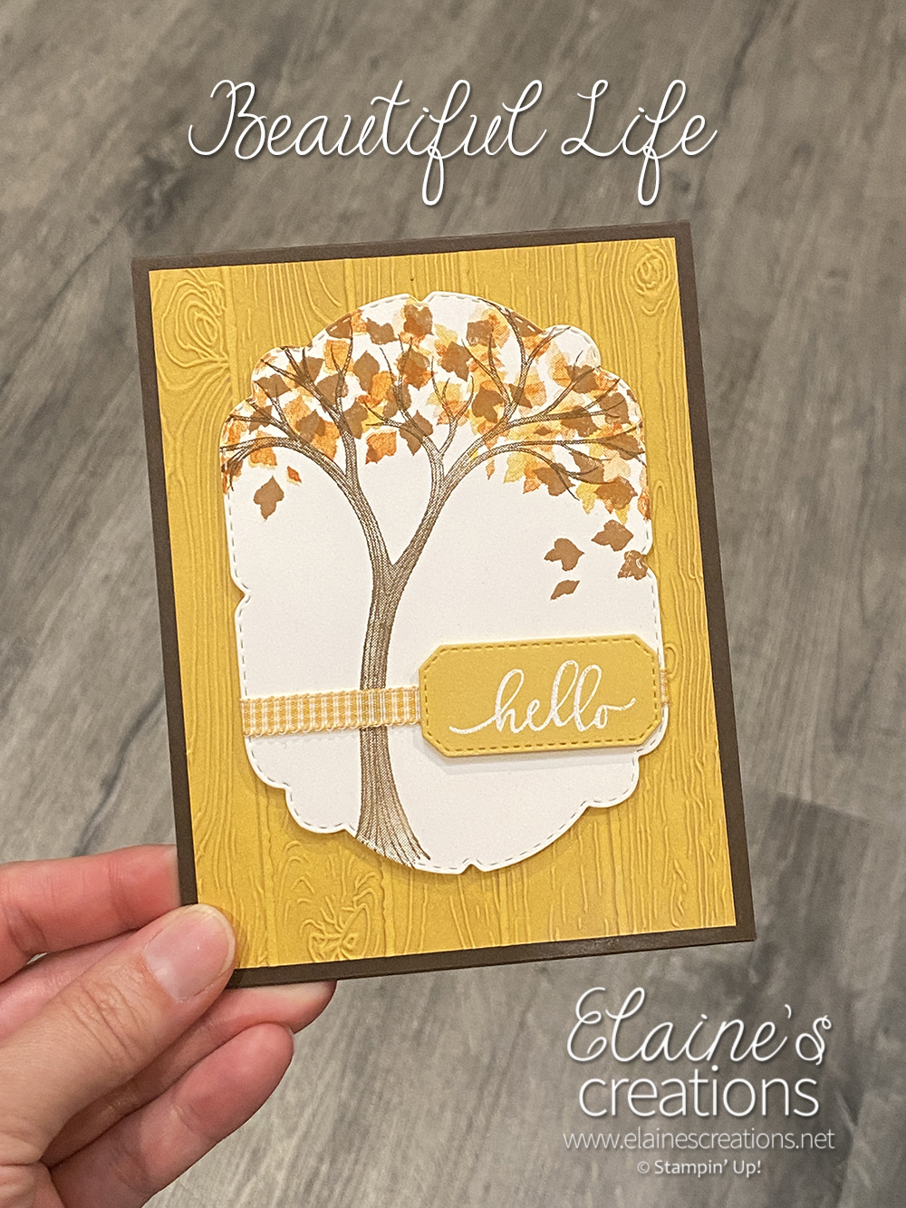 life is beautiful fall card