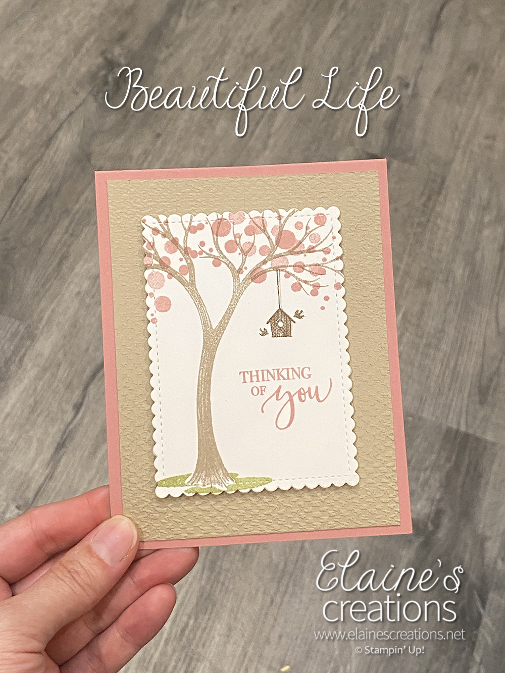 life is beautiful spring card
