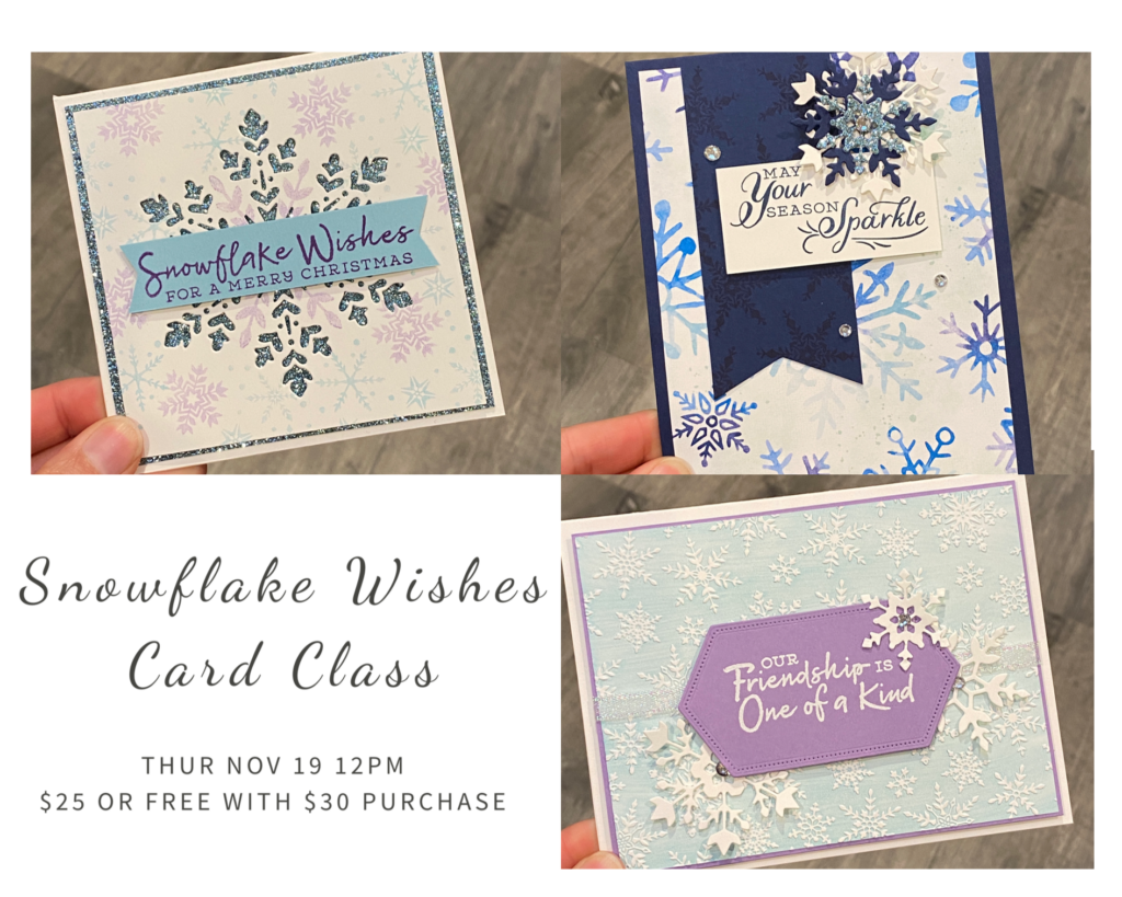 snowflake wishes card class