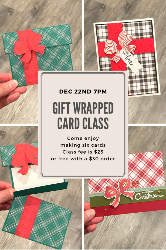 gift wrapped card class