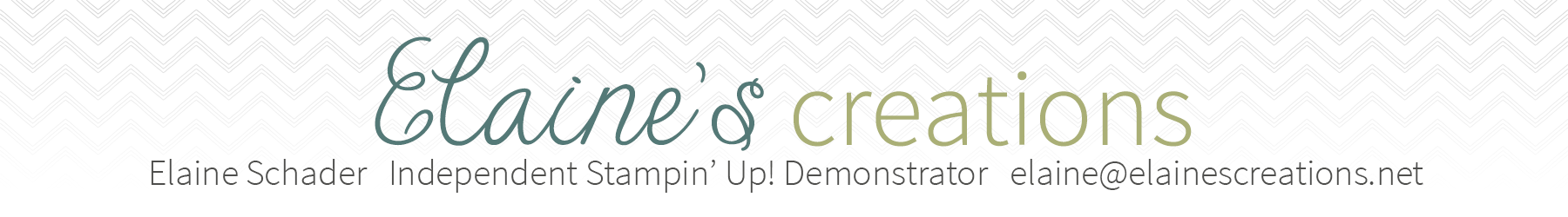 Elaine's Creations Independent Stampin' Up! Demonstrator