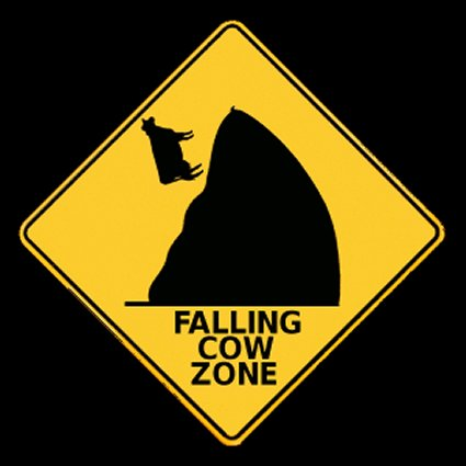 falling cows