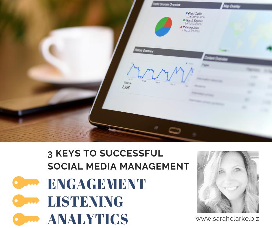 3 keys to successful social media management