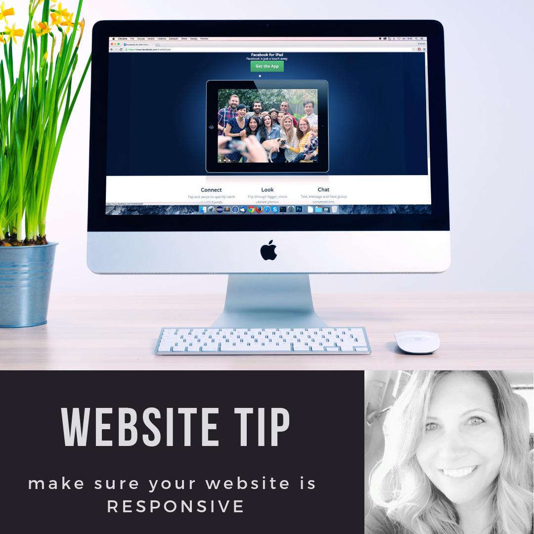 website tip make sure your website is responsive