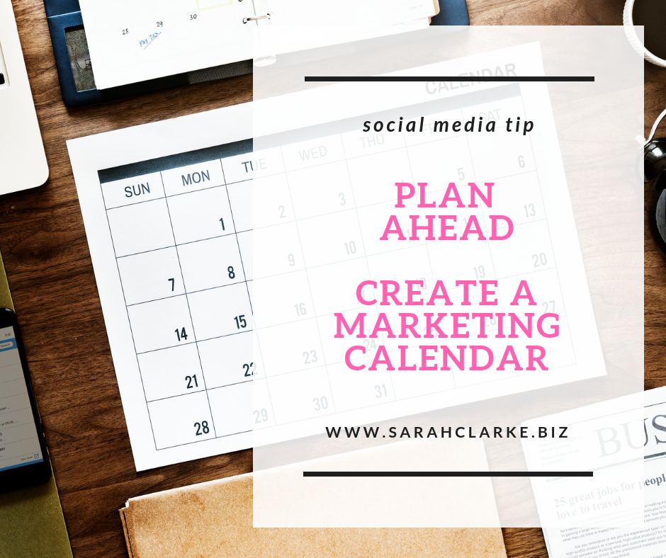 social media tip plan ahead