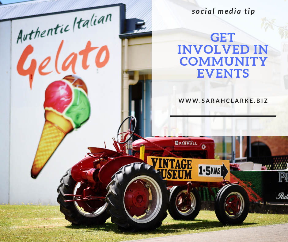 business tip get involved in community events