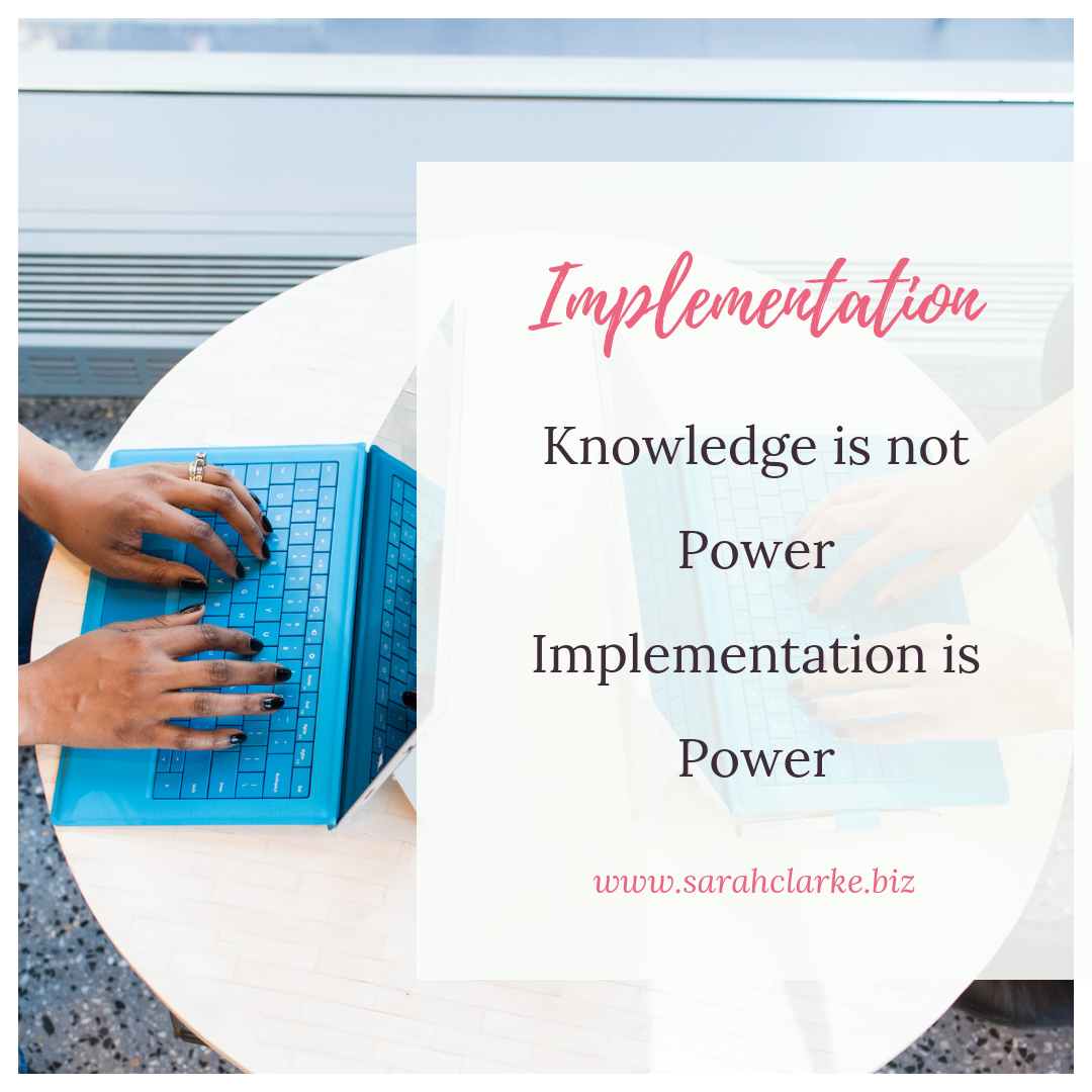 Implementation of your Business Strategy