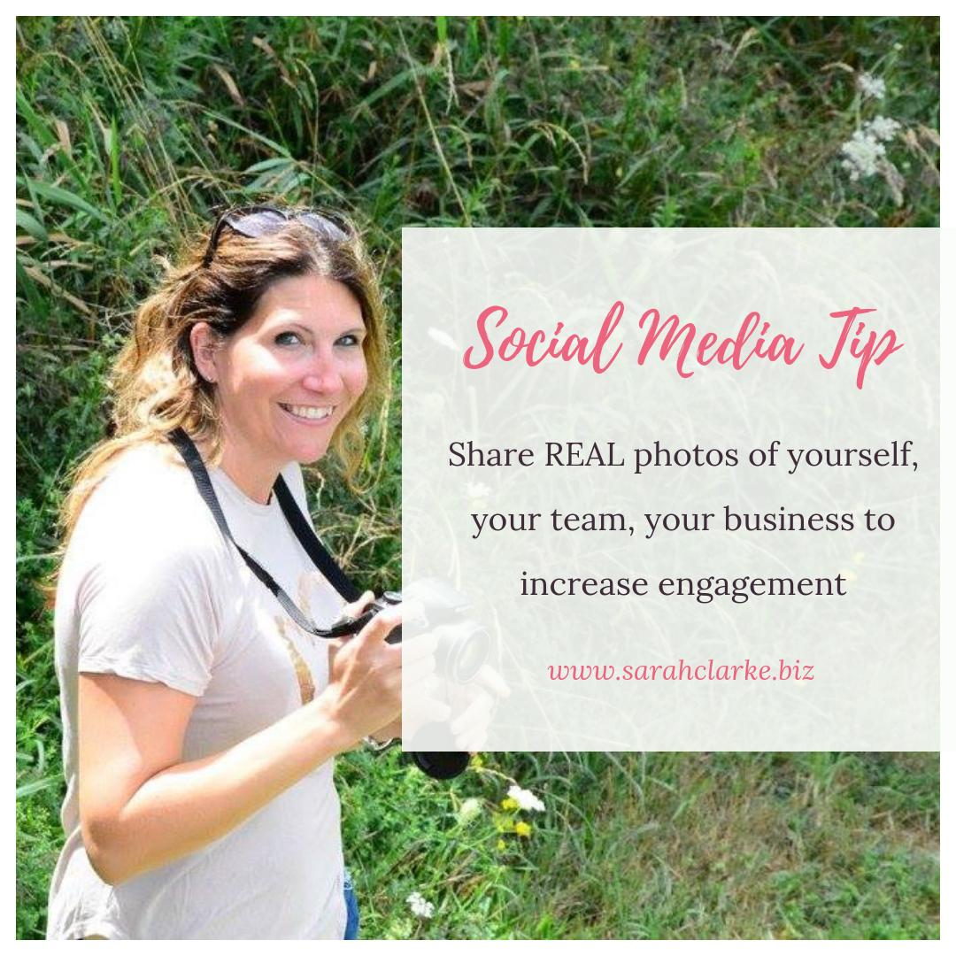 Social Media Tip Use real photos