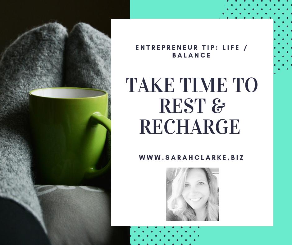Entrepreneur Tip balance life and work