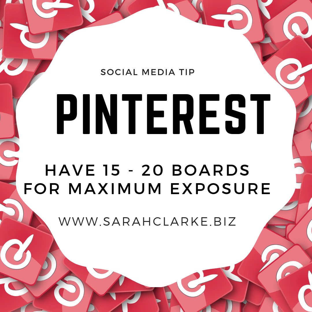 How many boards should I have on Pinterest