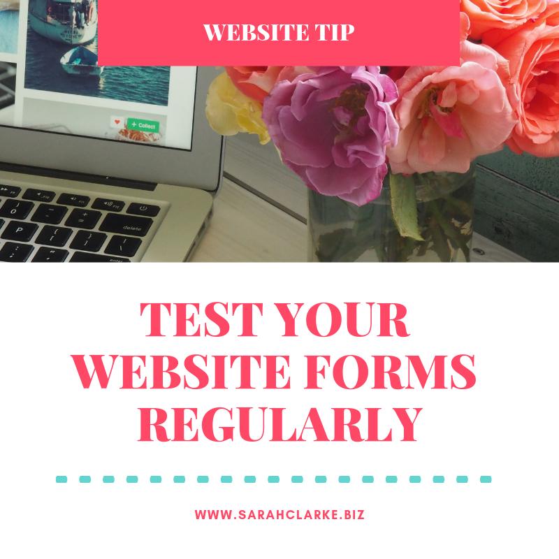 website tip check your website forms on a regular basis