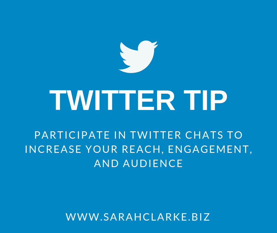 twitter tip participate in twitter chats