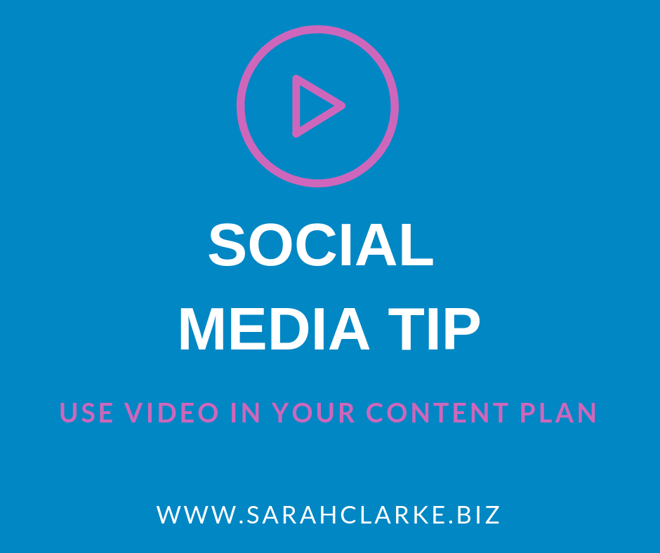 include video as part of your social media content plan