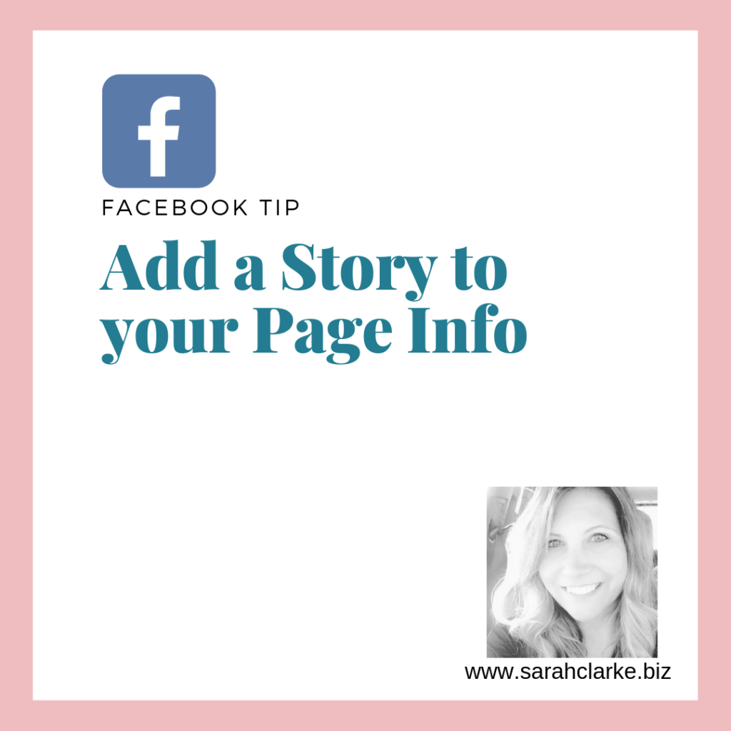 Add a story to your facebook page info