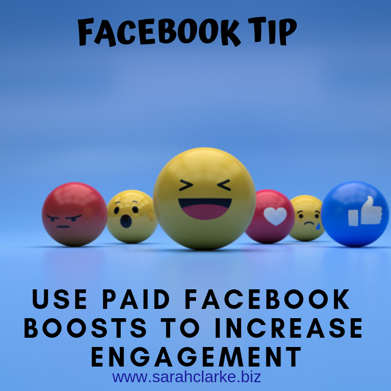 use paid facebook boosts to increase engagement