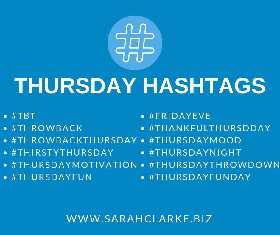 thursday hashtags