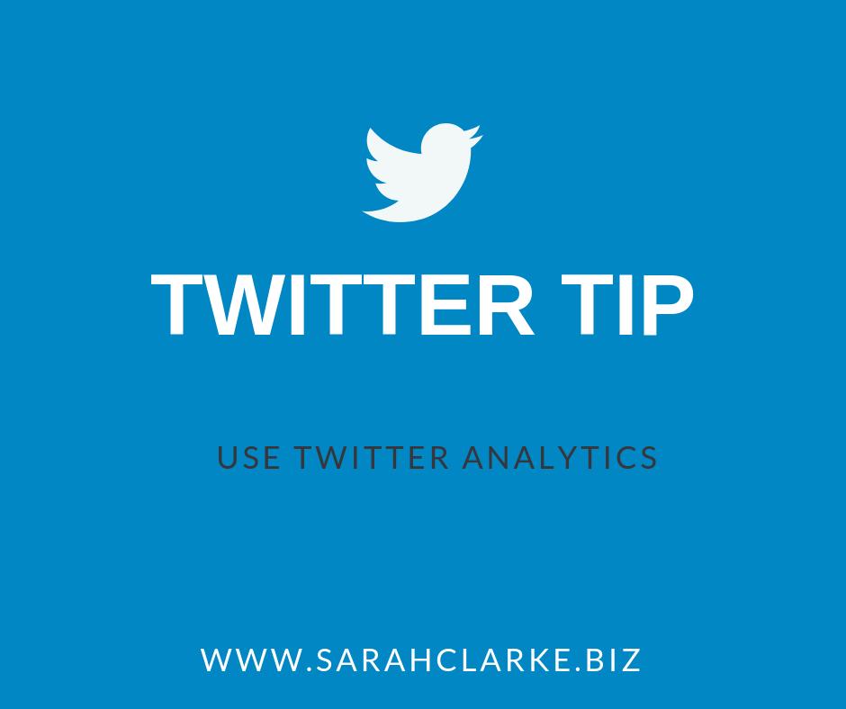 Twitter Tip: Use Twitter Analytics
