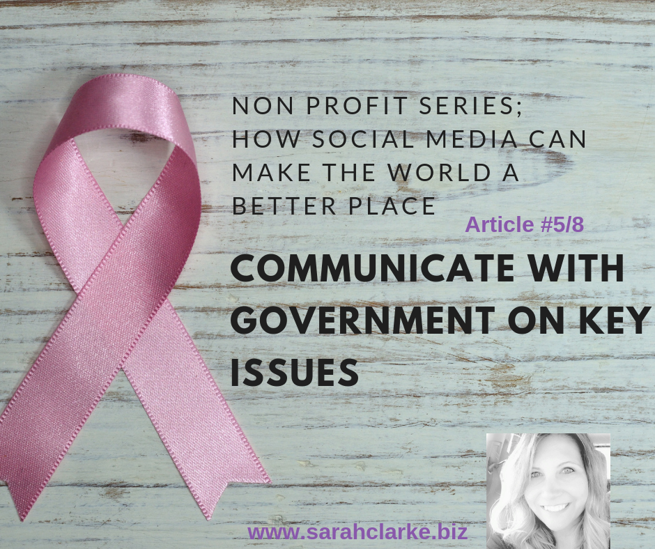 non profit series how to use social media to communicate with government on key issues