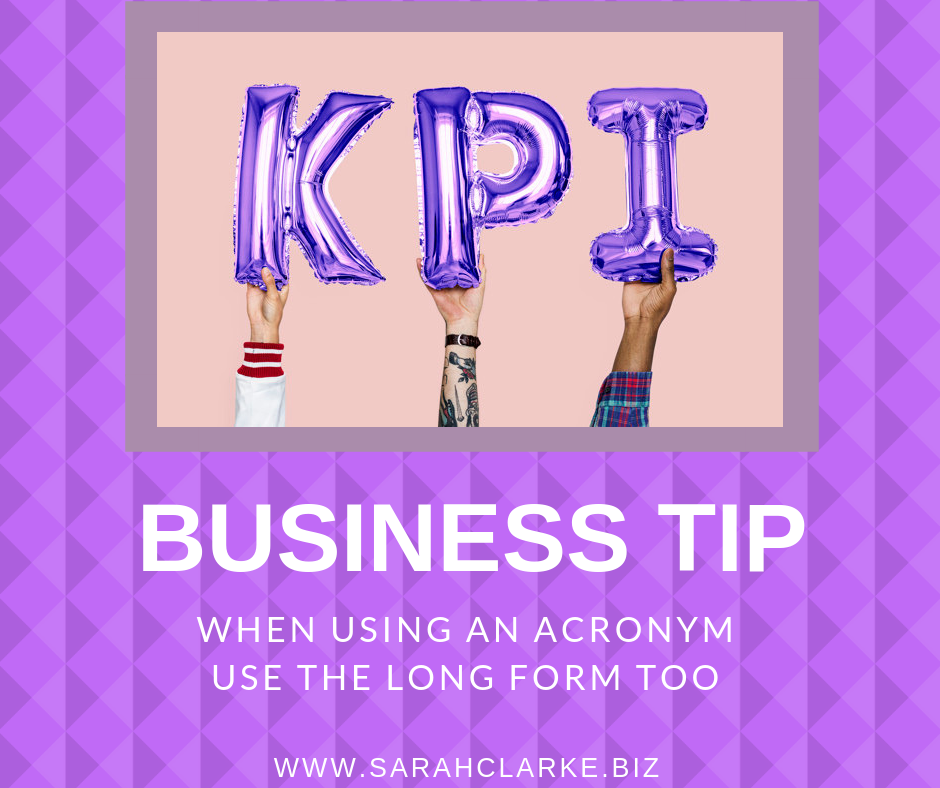 business tip be careful with the use of acronyms