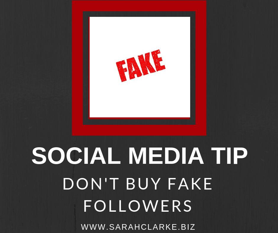 social media tip don't buy fake followers