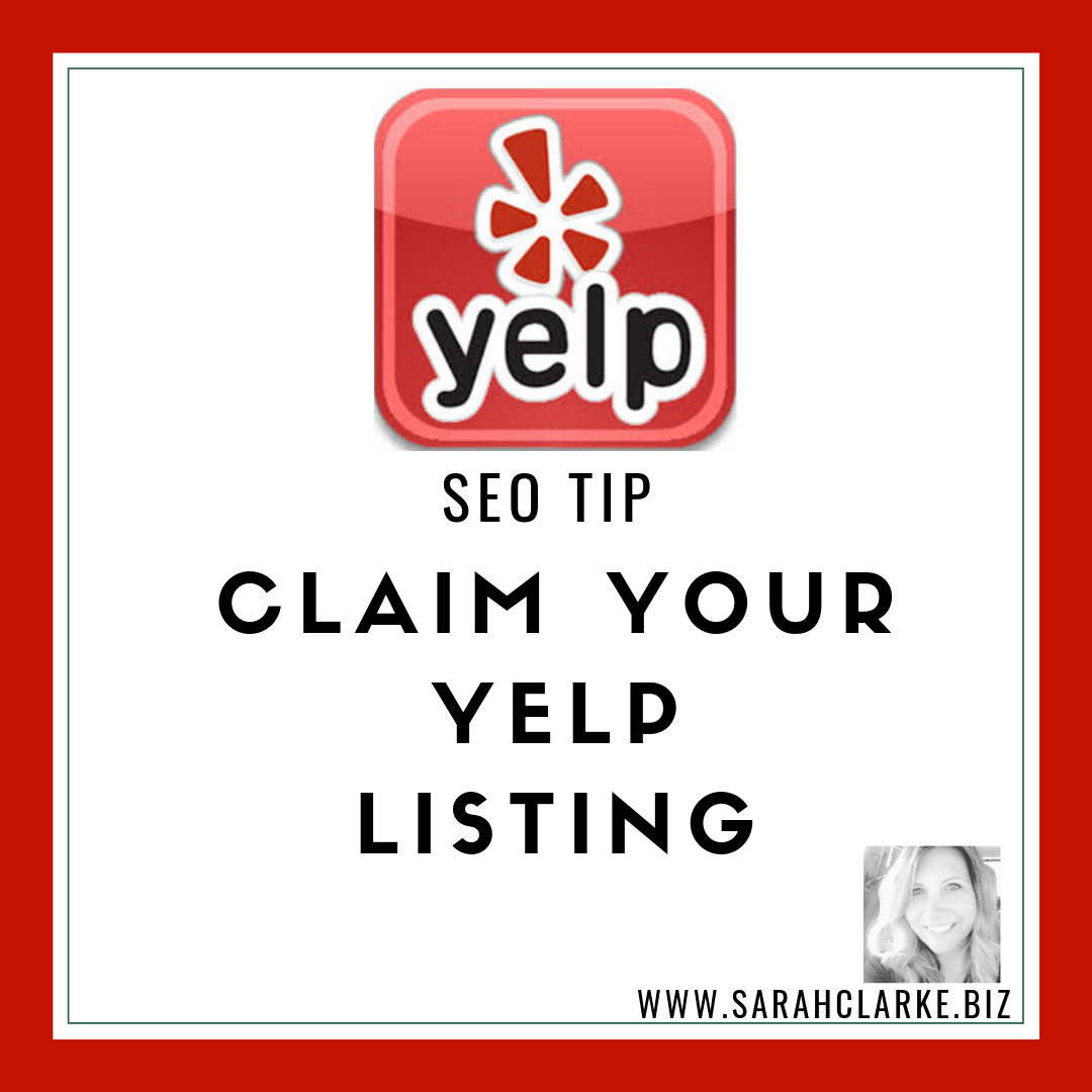 SEO Tip Claim your YELP Listing