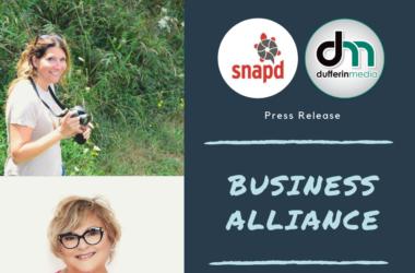 business alliance between dufferin media and snapd dufferin caledon