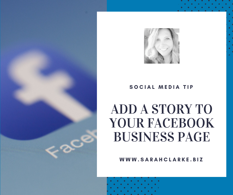 facebook tip add a story to your business page bio