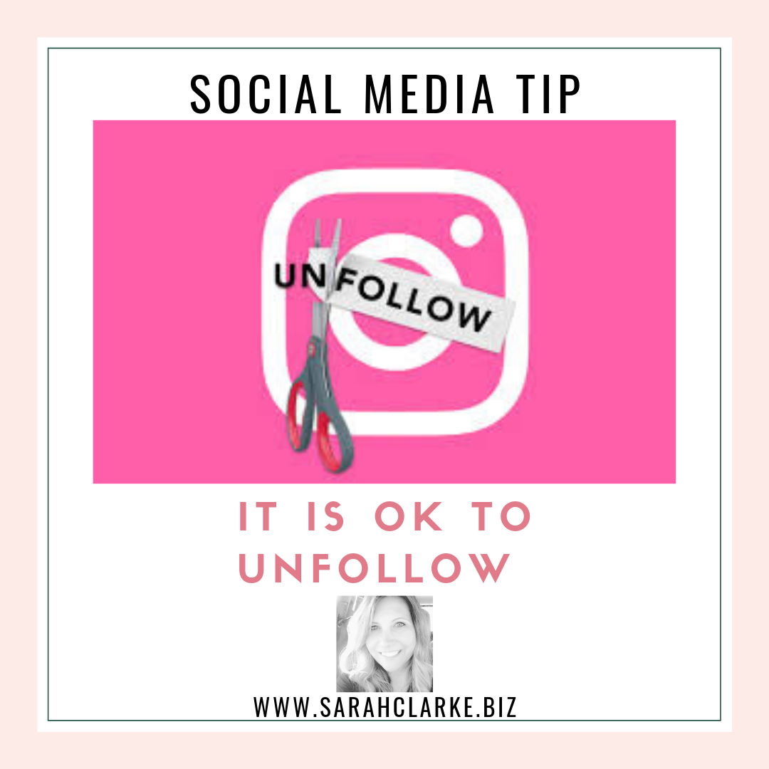 it is okay to unfollow on social media
