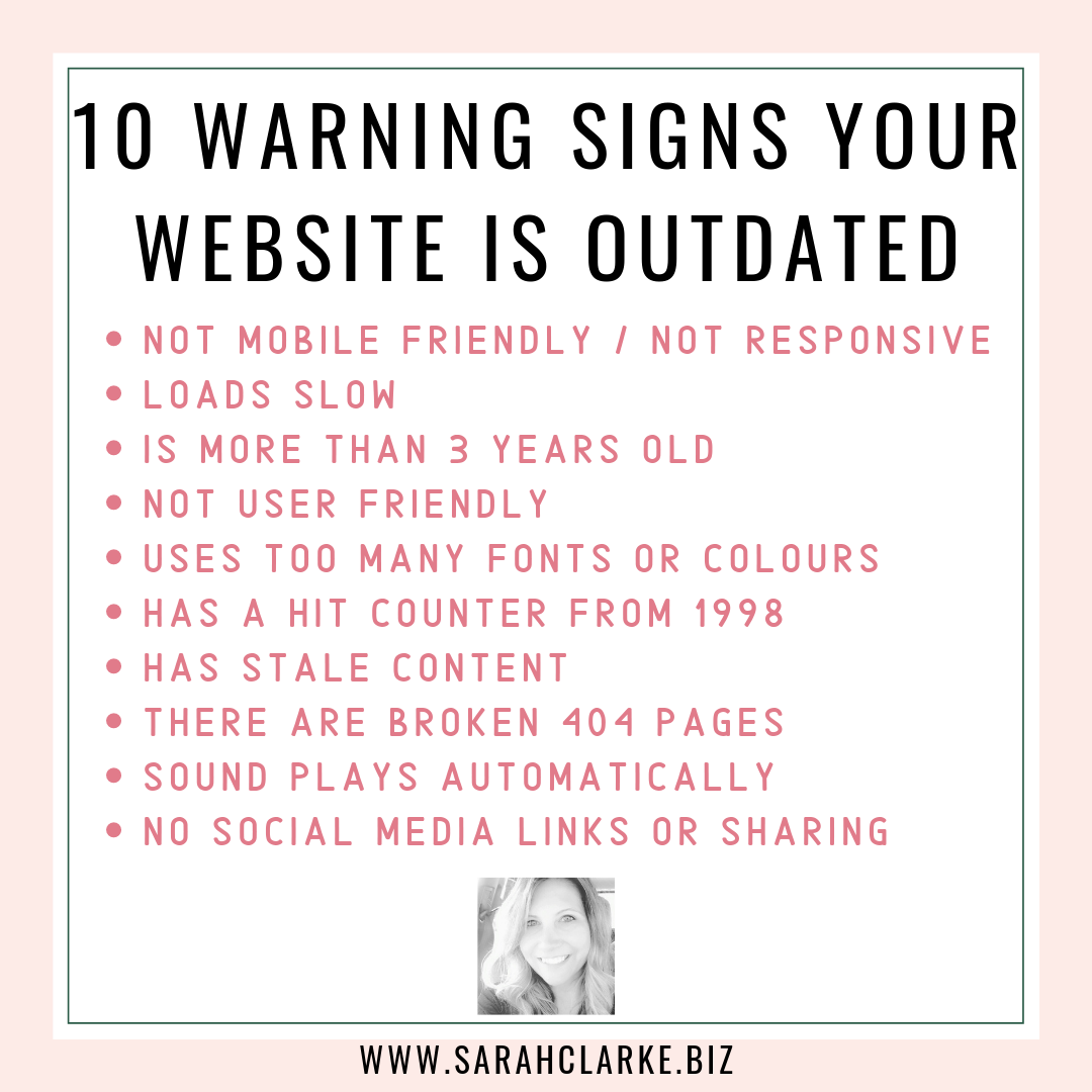 10 warning signs your website is outdated