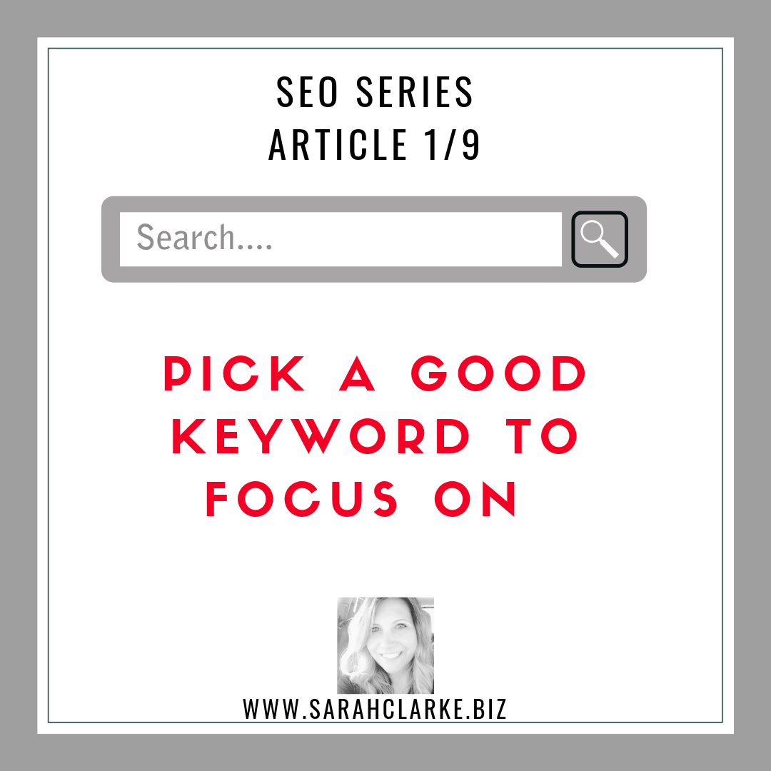 SEO Tips Pick a Good Keyword