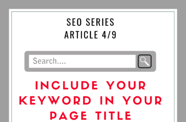 SEO Tip: Include your keyword in your page title
