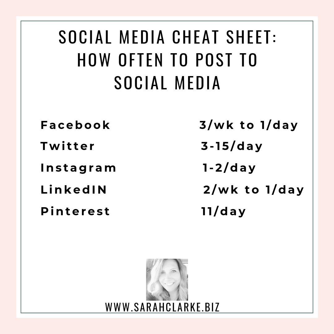 How often to post on social media