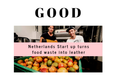 Good News Stories Netherlands Start up turns food waste into leather