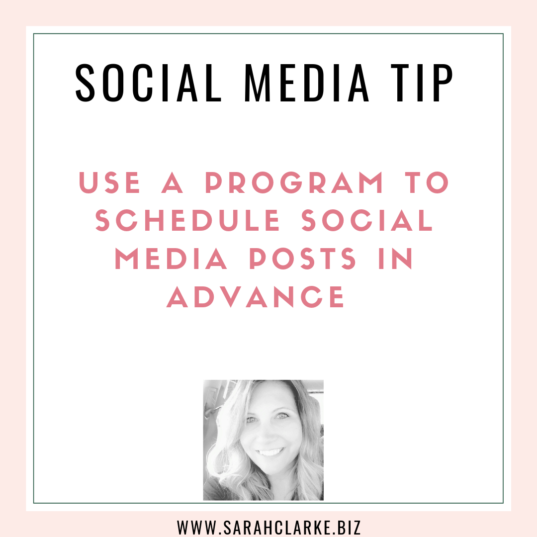 social media tip use a program such as hootsuite to schedule posts