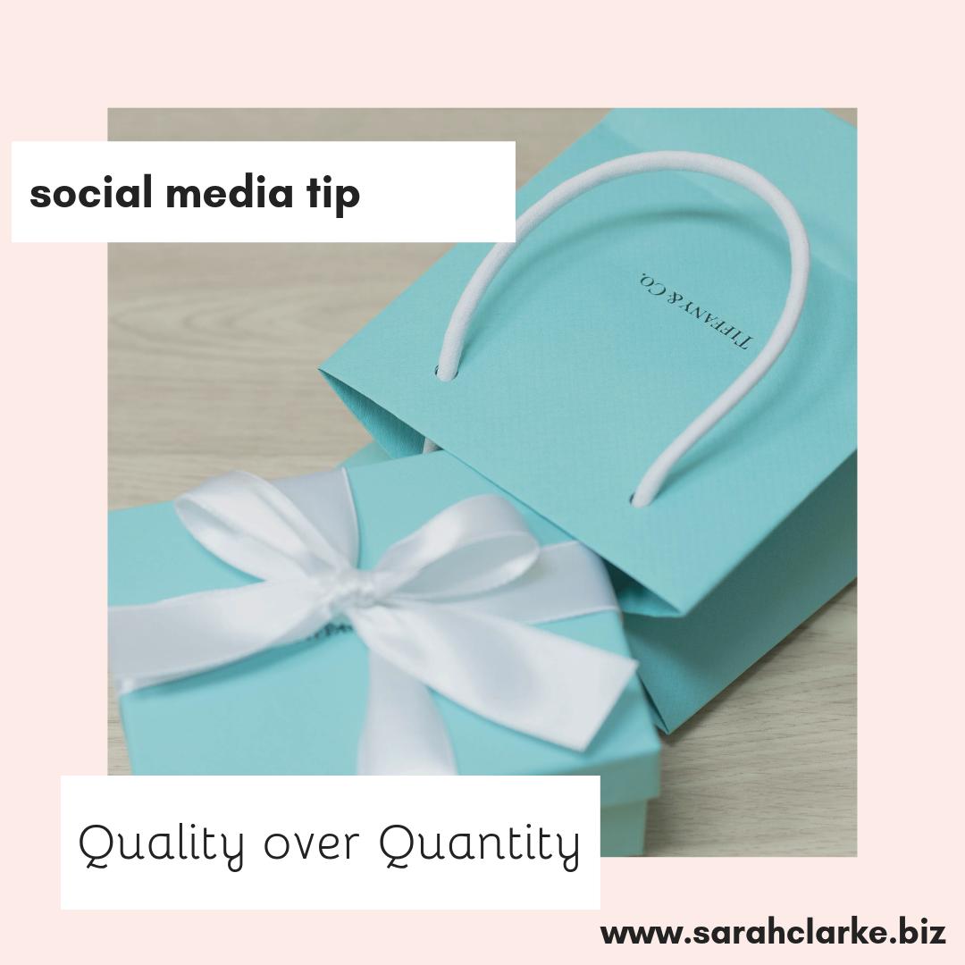 social media tip quality over quantity