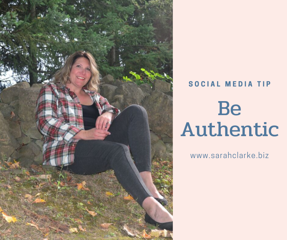 social media tip be authentic